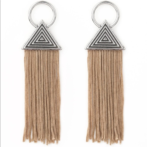 Brown Fringe Tassel Earrings